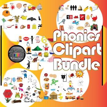 Clipart Bundle: Short Vowel Sounds A E I O U