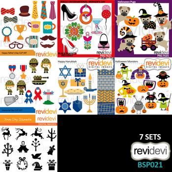 Clipart Bundle Special / Collection 21 / Holidays clip art