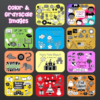 Clipart Bundle for Commercial Use {Color and Black & White Clip art}