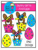 Clipart - Bunny Gifts And Eggs