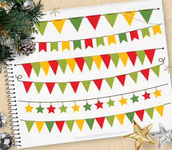 Clipart - Bunting Banners Christmas / Holidays