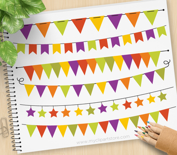 Clipart - Bunting Banners Halloween / Autumn / Fall