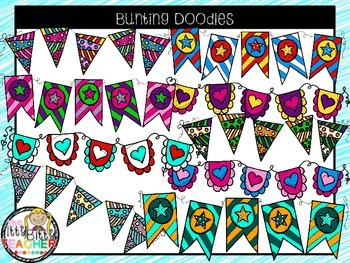 Clipart - Bunting Doodles