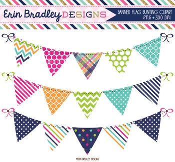 Clipart Bunting - Summer Days