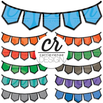 Clipart - Buntings - Flags
