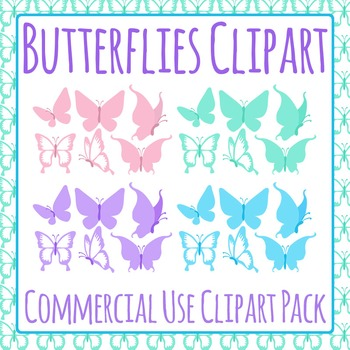 Butterflies Clip Art Pack for Commercial Use