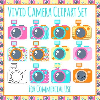 Camera Clip Art Pack for Commercial Use