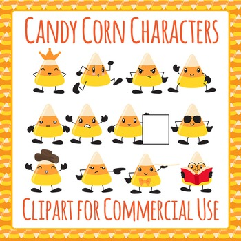 Candy Corn Characters Clip Art Pack