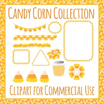 Candy Corn Collection Clip Art Pack for Commercial Use
