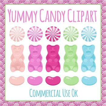 Candy - Hard Candy, Gummy Bears and Jelly Beans Clip Art