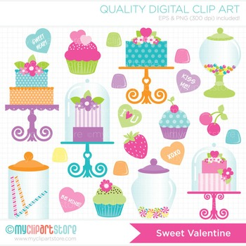 Clipart - Sweet Valentine / Candyland / Cupcakes