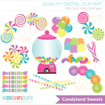 clipart candyland sweets by myclipartstore tpt rh teacherspayteachers com candyland clipart images christmas candyland clipart