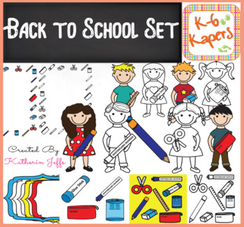 Clipart Capers Back to School Set