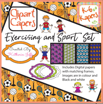 Clipart Capers Exercise and Sport Set
