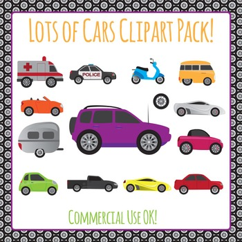 Clipart: Cars Commercial Use Clip Art PackC