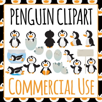 Penguin Clip art Pack - Commercial Use