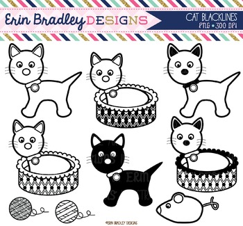 Clipart - Cats Black and White