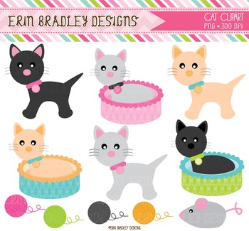 Clipart - Cats & Kittens Graphics
