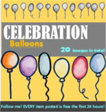 Clipart, Celebration, Images, Balloons, Decorations, Birth