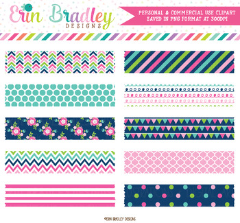 Clipart Cheery Day Digital Washi Tape