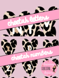 Clipart: Cheetah Letters and Numbers