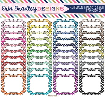 Clipart - Chevron Stripe Frames