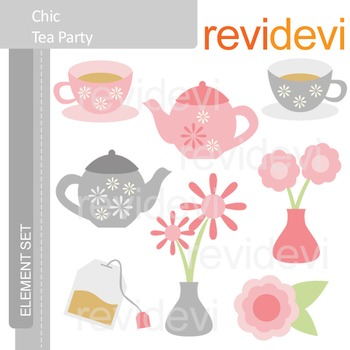 Tea party clip art