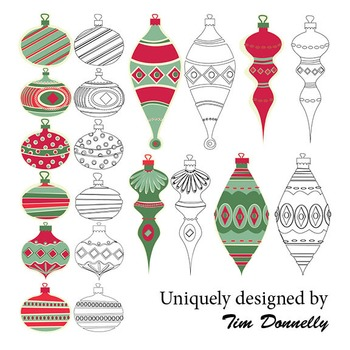 Clipart - Christmas Baubles Collection