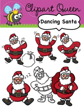 Christmas Dancing Santa.Clipart Christmas Dancing Santa