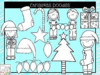 Clipart - Christmas Doodles