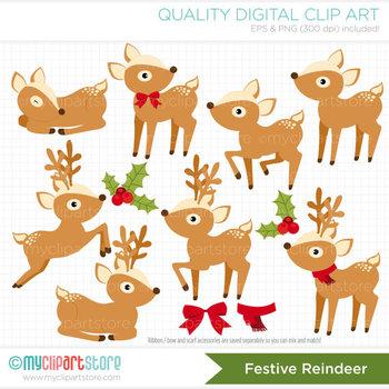 Clipart - Christmas / Festive Reindeer