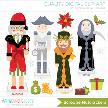 Clipart - Christmas Nutcrackers Scrooge
