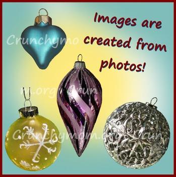 Christmas Ornaments Photo Clip Art
