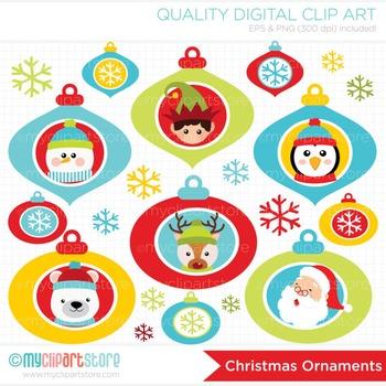 Clipart - Christmas Ornaments / Christmas decoration / Santa