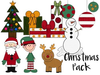 Christmas Giving Clipart.Clipart Christmas Pack