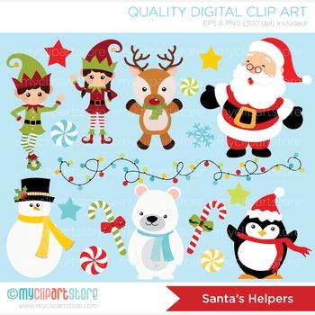 Clipart - Christmas / Santa's Helpers