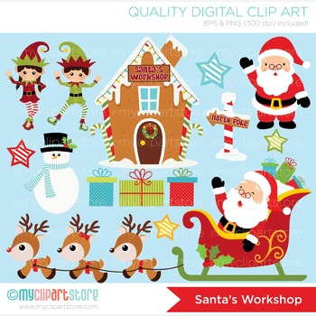 Clipart - Christmas / Santa's Workshop