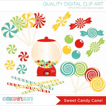 Clipart - Christmas / Sweet Candy Cane / Candyland / Sweets