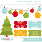 Clipart - Christmas Time / Frames and decorations