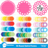 Clipart, Circle Frames Clipart, Colorful Labels, AMB-1138