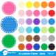 Clipart, Circle Frames Clipart, Colorful Labels, AMB-1138