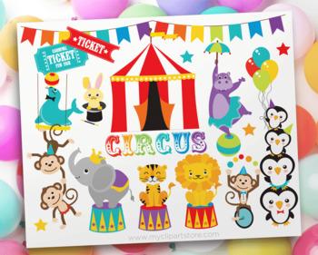 Clipart - Circus Animals
