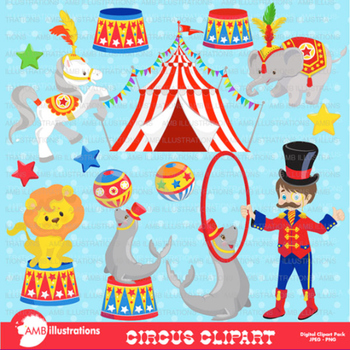Clipart Circus Carnival pack AMB-1161