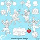 Clipart, Circus Carnival Digital Stamps Black Line, outlin