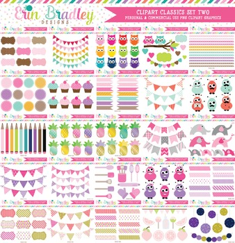 Clipart Classics Bundle Set Two - 100 Clip Art Graphics Sets