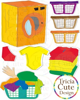 clothes clipart Laundry Clip Art can be used as frames/labels/tags