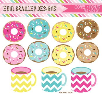Clipart - Coffee and Donuts