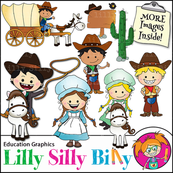 Clipart - Colonial Kids {Lilly Silly Billy}