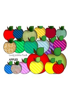 Clipart Colorful Apples