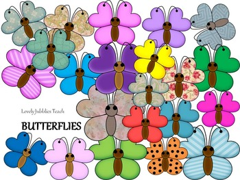 Clipart Colorful Butterflies